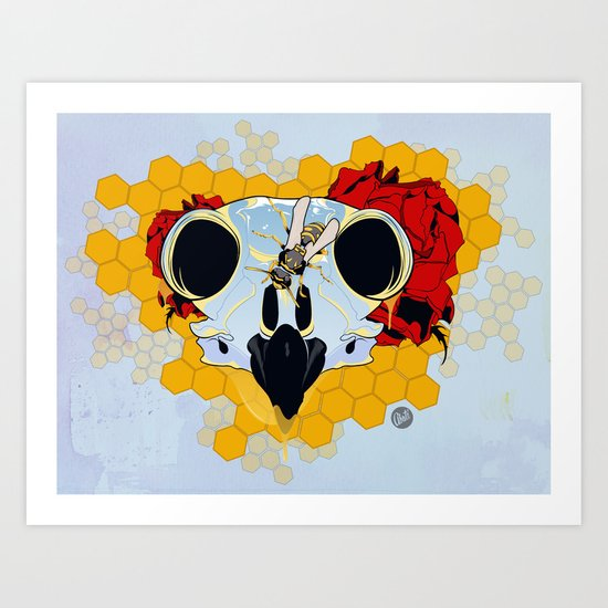 Honey Panel Art Print