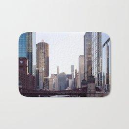 Chicago River Skyline Bath Mat