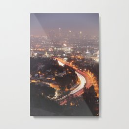 Los Angeles at Night, Fine Art Night Landscape Photography Metal Print