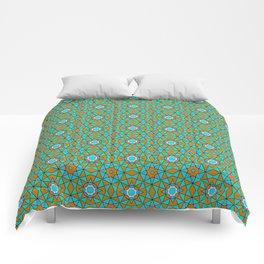 Moroccan Tile 1A - Blue Comforters