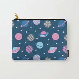 Universe & Planets Pattern Carry-All Pouch