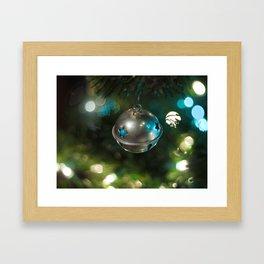 Christmas bell ornament Framed Art Print