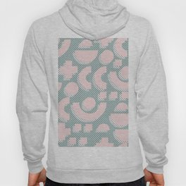 Memphis Pattern - Gemetrical  Retro Art in Pink and Mint - Mix & Match With Simplicity Of Life Hoody
