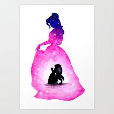 Belle Double Exposure - Dancing Art Print