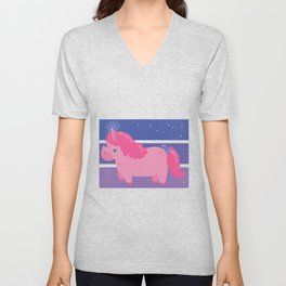 Chubby Unicorn Unisex V-Neck