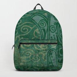 Teal Hand of Fatima Design Backpack