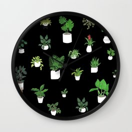 House Plants Wall Clock