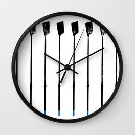 Rowing Oars 1 Wall Clock