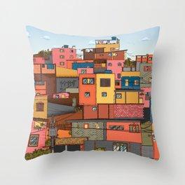 Favela Landscape Throw Pillow