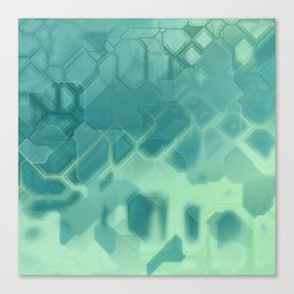 future fantasy turquoise Canvas Print