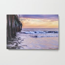 Ever Changing Cayucos Pier and Beach California Metal Print