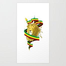 Reague Lion Art Print
