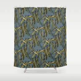 Modern Tropical Plant Design for Nature Lovers Shower Curtain