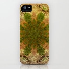 Green Flower Fossil iPhone Case
