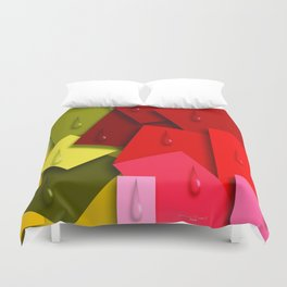 Squares and Tears Duvet Cover
