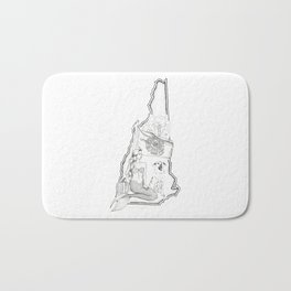 New Hampshire Mermaid Bath Mat