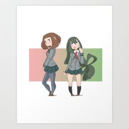 Girls of My Hero Art Print