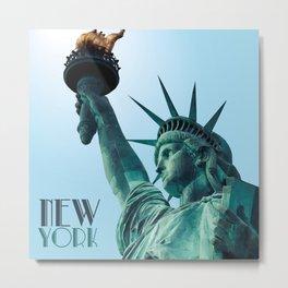 Statue of Liberty - New York - Ultra High Polygon Art Metal Print