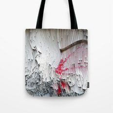 Red flowers on a wall Tote Bag