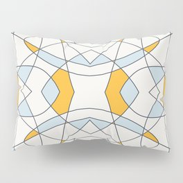 Abstract Retro Colored Church Window Pillow Sham