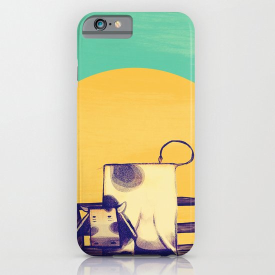 Cow Sunset iPhone & iPod Case