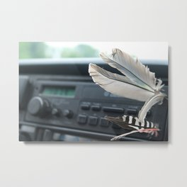 Flying Radio Metal Print