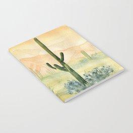 Desert Sunset Landscape Notebook