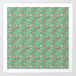 Seasonal Sweets Green Art Print