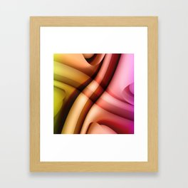 Color gradient 24 Framed Art Print