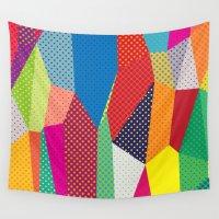dots Wall Tapestries featuring Dots by Joe Van Wetering