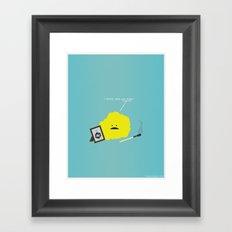I Sulfur When You Argon Framed Art Print