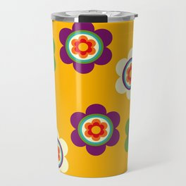 Mexican Colorful Flowers Travel Mug