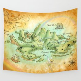 Neverland Map Wall Tapestry