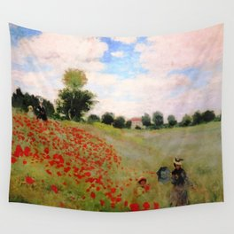POPPIES - CLAUDE MONET Wall Tapestry
