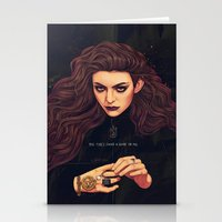 lorde Stationery Cards featuring The Fire's Found A Home In Me by Helen Green