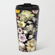 Floral Rainbow Metal Travel Mug