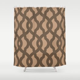 Grille No. 2 -- Brown Shower Curtain
