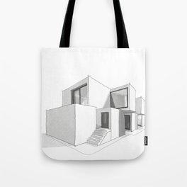cubic house no.2 - minimalist architecture - sketchbook Tote Bag
