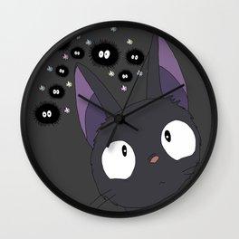 Jiji x sootballs in grey Wall Clock