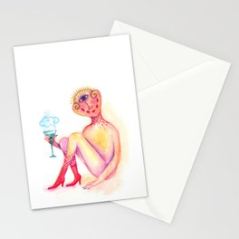daemon who is much less speachless Stationery Cards
