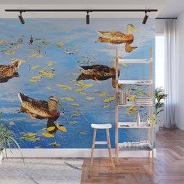 Ducks on a Pond Wall Mural