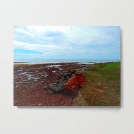 PEI Shoreline in Point Prim Metal Print