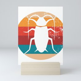 Vintage Insect Lover Retro Entomology Silhouette Gift Mini Art Print