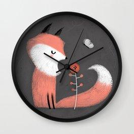 PINK FOX Wall Clock