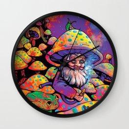 Mushroom Man Wall Clock