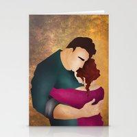 hug Stationery Cards featuring Hug by Slavena Peneva