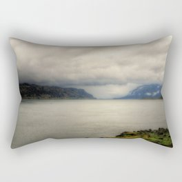 Columbia River on a Cloudy Day Rectangular Pillow