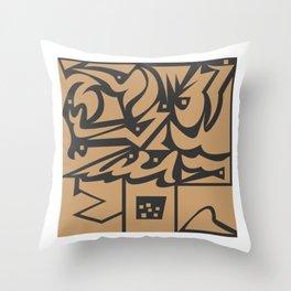 imagi struktur abstrack Throw Pillow