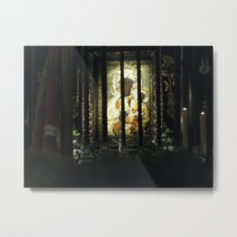 The Black Madonna, the miraculous portrait, Czestochowa, Poland Metal Print