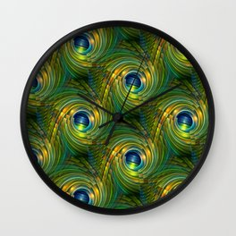 3D - abstraction -a- Wall Clock